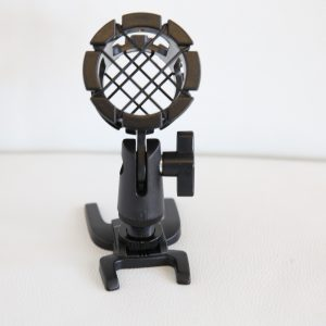 Mic Stand front on picture Black Dog Camera Hire